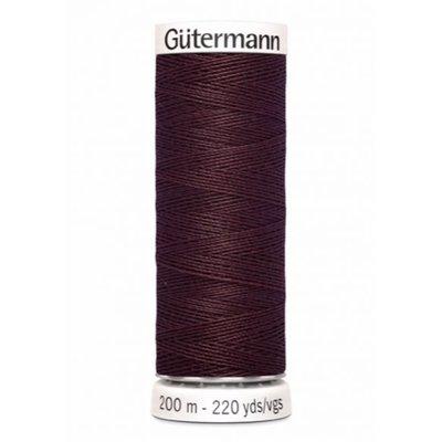 Gutermann 175 aubergine bruin- 200m