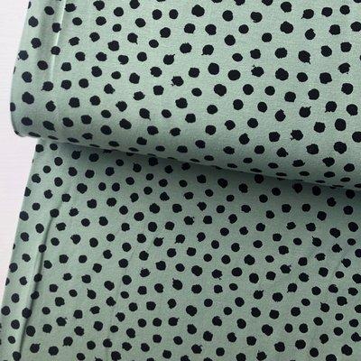 Verhees GOTS  - Dots groen €11,90 p/m jersey (GOTS)