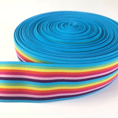 Aqua-rainbow elastiek 40mm