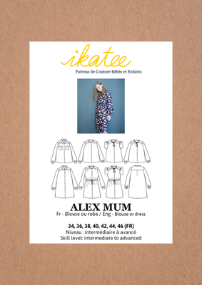 Ikatee - Alex blouse or dress MUM 34-46