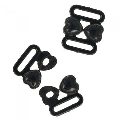 Bikinisluiting zwart hartje 10mm  €3,80 p/set