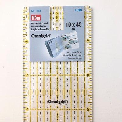 Omnigrid lineaal 10x45cm €24 p/s