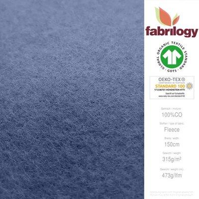 Fabrilogy - Indigo Katoen Fleece  €20 p/m GOTS