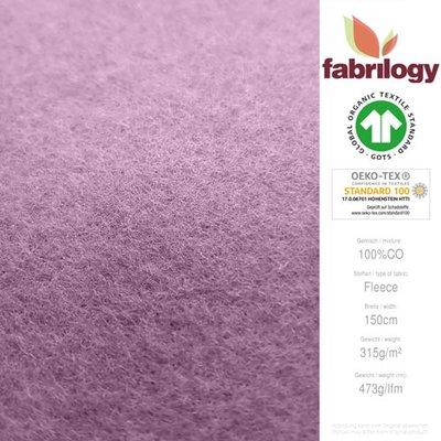 Fabrilogy - Oudroze Katoen Fleece  €20 p/m GOTS
