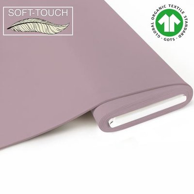 Fabrilogy - Oudroze soft touch €11,70 p/m GOTS