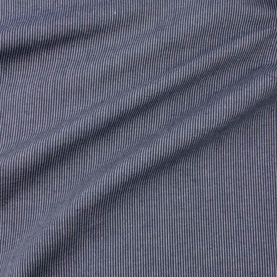 Ecological Textiles - Hemp/cotton dark blue striped poplin   €18,90