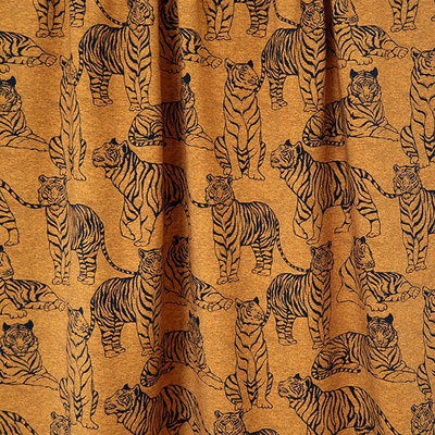 Mieli Design - Tigers oker €25,50 p/m FRENCH TERRY (organic)