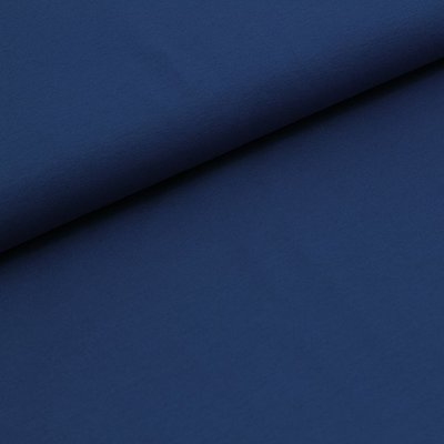 COUPON 70cm Stoffonkel -  French terry MARINE BLUE €19,90 p/m (GOTS)