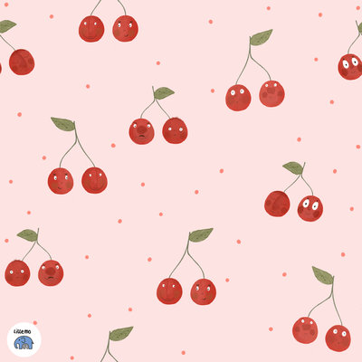 Lillestoff - Cherries jersey €21,30 p/m GOTS