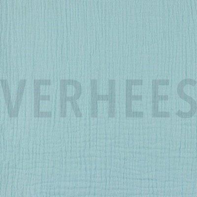 Verhees GOTS  - Lichtblauw Double Gauze/hydrofiel €8,50 p/m katoen (GOTS)