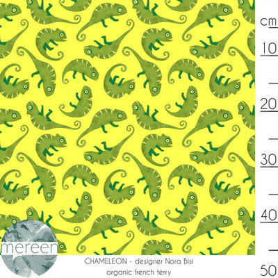 Mereen - Chameleon Lemon €26,50 p/m french terry (GOTS)
