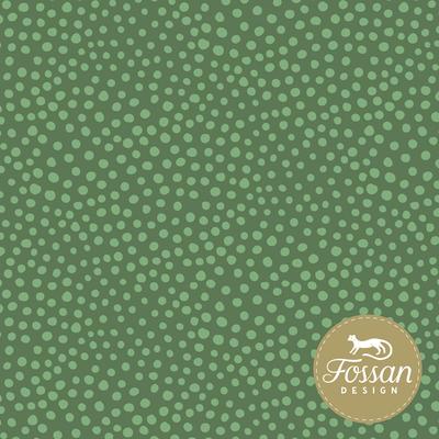 Fossan - Stone Dots Green JERSEY €22,50 p/m GOTS