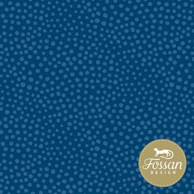 Fossan - Stone Dots Blue JERSEY €22,50 p/m GOTS