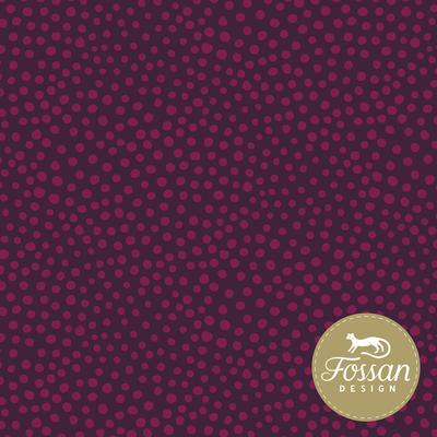 Fossan - Stone Dots Magenta JERSEY €22,50 p/m GOTS