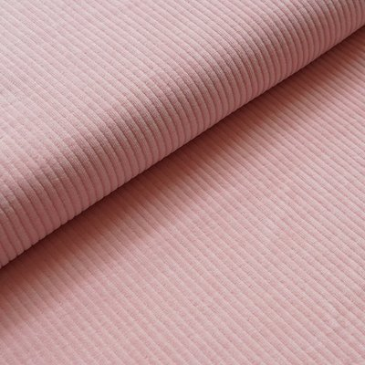 COUPON 120cm Stoffonkel - Nicky Corduroy Peach pink €23,90 p/m GOTS