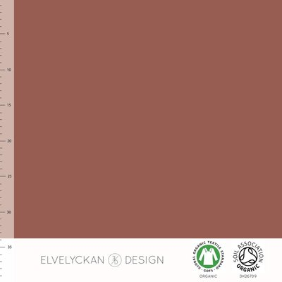 Elvelyckan  - Rusty BOORDSTOF €21 p/m (GOTS)