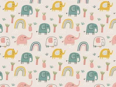 Lillestoff - Elephants JERSEY €21,30 p/m GOTS