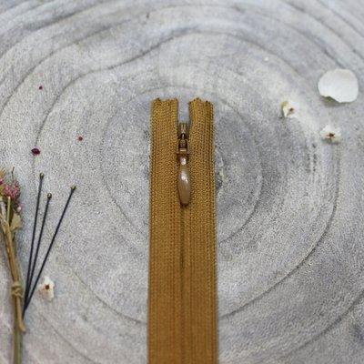 Blinde rits ochre 40 cm - Atelier Brunette