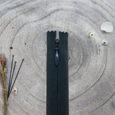 Blinde rits forest green 60 cm - Atelier Brunette