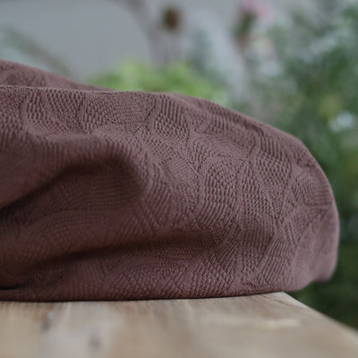 COUPON 110 mindtheMAKER - Organic leaf JACQUARD Dust Brown €25,90 p/m