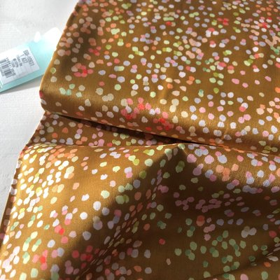 COUPON 75cm Kokka - Melody oker dots €19,90 p/m (cotton sateen)