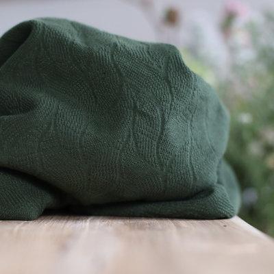 COUPON 100cm mindtheMAKER - Organic leaf JACQUARD Green khaki €25,90 p/m