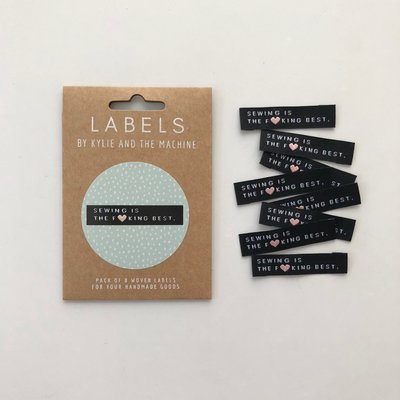 KYLIE & THE MACHINE - SEWING IS THE FUCKING BEST 8 labels €6,50 per set