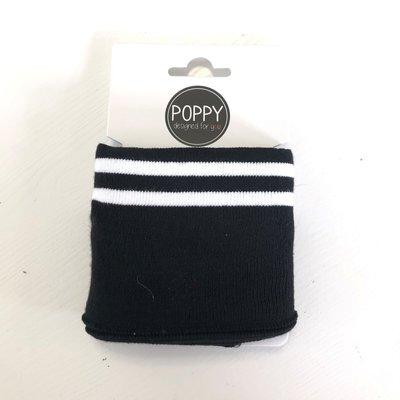 Verhees - Poppy cuff ZWART/WIT €4,95 per stuk