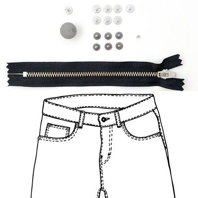 KYLIE & THE MACHINE - REFILL JEANS KIT BLACK/PEWTER 15 €12,90