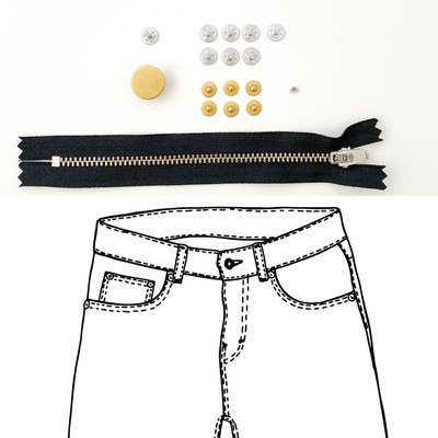 KYLIE & THE MACHINE - REFILL JEANS KIT BLACK/GOLD 15 €12,90