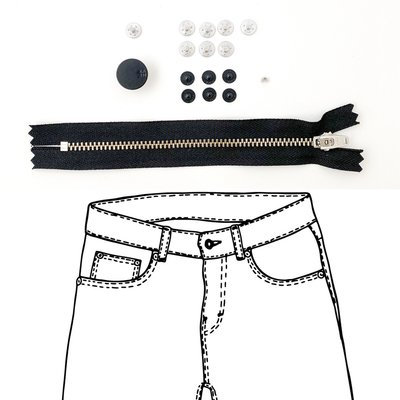 KYLIE & THE MACHINE - REFILL JEANS KIT BLACK 15 €12,90