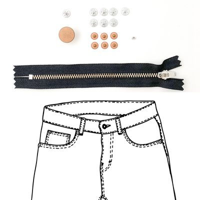 KYLIE & THE MACHINE - REFILL JEANS KIT BLACK/COPPER 19 €12,90
