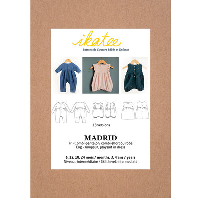 Ikatee - MADRID jumpsuit / playsuit - Baby 6M/4Y  €16 p/s