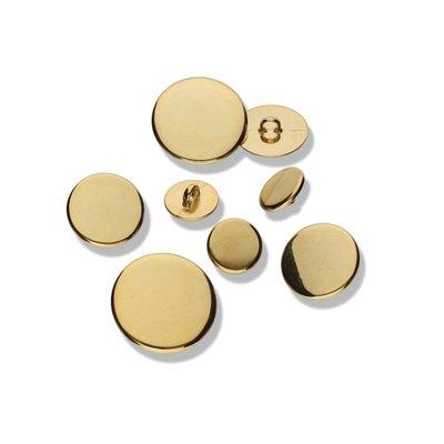 Metaal - Goud rond 12mm knoop €0,80 p/s