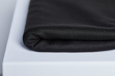 meetMilk - TEXTURED PONTE KNIT - BLACK met LENZING™ TENCEL™ vezels €28,30 p/m