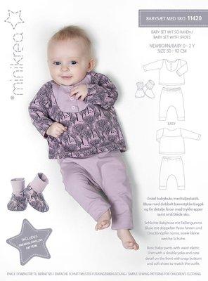 Minikrea Baby set met slofjes 11420