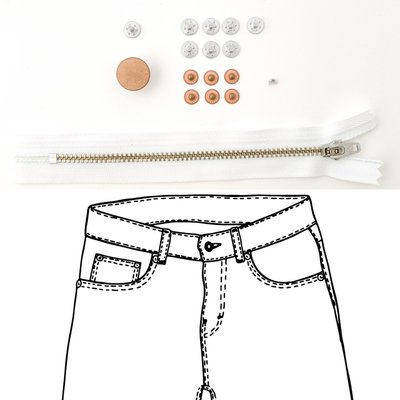 KYLIE & THE MACHINE - REFILL JEANS KIT WHITE/COPPER 19 €12,90