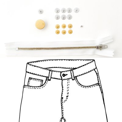 KYLIE & THE MACHINE - REFILL JEANS KIT WHITE/GOLD 19 €12,90