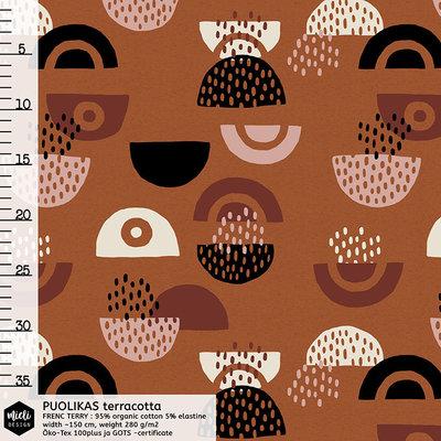 Mieli Design - Puolikas terracotta €25,50 p/m FRENCH TERRY (organic)