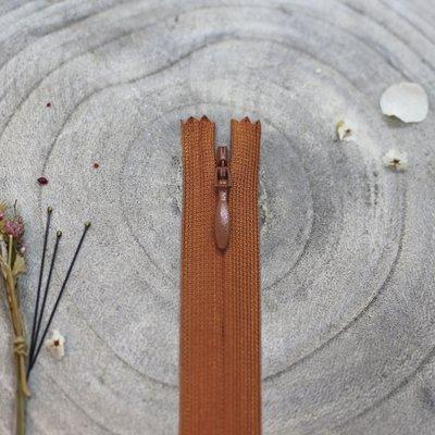 Blinde rits Chestnut 20 cm - Atelier Brunette