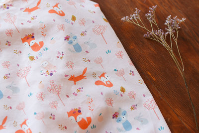 Lise Tailor - Woodland friends Poplin cotton €22 p/m