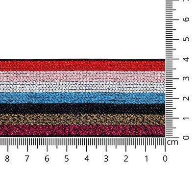 Multi color lurex elastiek 40mm