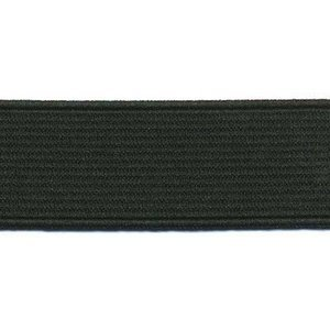 Zwart elastiek 25 mm