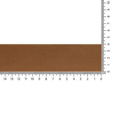 Bruin schuin geweven elastiek 40mm