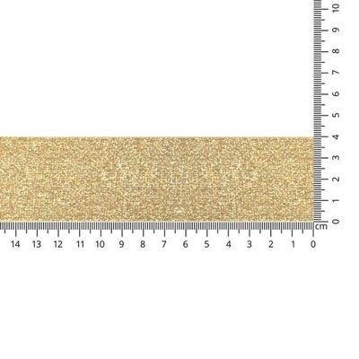 Goud schuin geweven elastiek 40mm