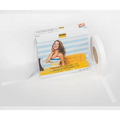 Vlieseline elastisch naadband 15mm wit €0,30 p/m