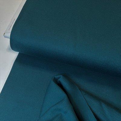 COUPON 85 CM Fabrilogy - Organic Knitwear (Interlock)- petrol €17,50 p/m GOTS