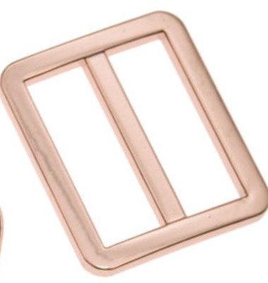 Rose metalen schuifgesp rechthoekig 25mm