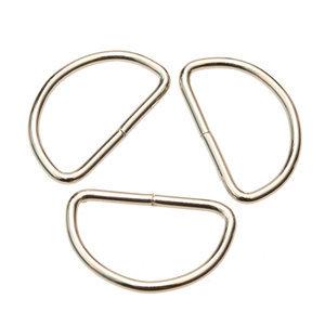 Zilver metalen D-ring 38mm
