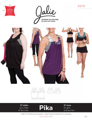Jalie 3679 Pika sport bra and tank GIRLS-WOMEN €15